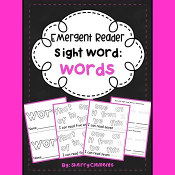 Sight Word Reader: words