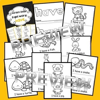 Emergent Reader Sight Words BUNDLE (at, be, this, have, from)