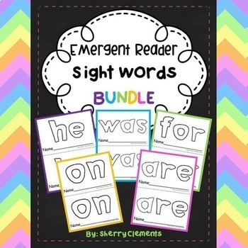 Emergent Reader Sight Words BUNDLE (he, was, for, on, are)