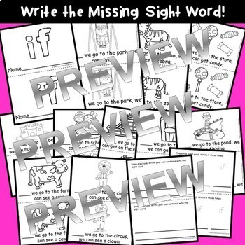 Sight Word Fluency Readers BUNDLE she, do, how, their, if