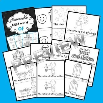 Emergent Reader Sight Words BUNDLE (the, of, and, a, to)