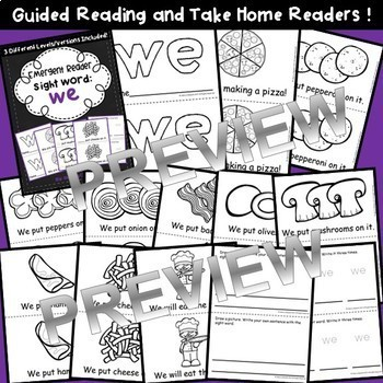 Sight Word Fluency Readers BUNDLE (we, when, your, can, and said)