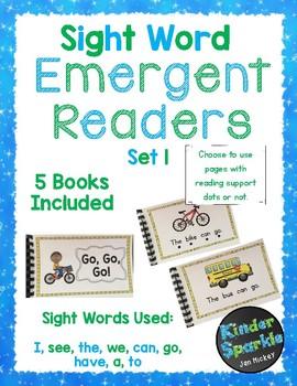Emergent Reader Sight Words Bundle 1