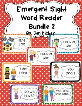 Emergent Reader Sight Words Bundle 2