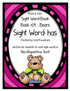 """Sight Word Book for the Sight Word """"has""""; Sight Word Book #14"""