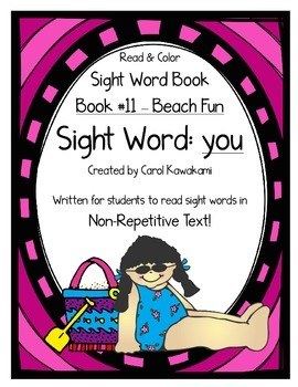 "Sight Word Book for the Sight Word ""you""; Sight Word Book #11"