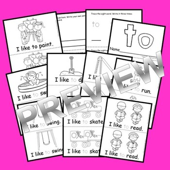 Sight Word Reader TO