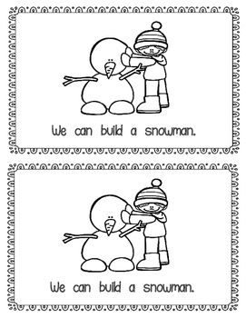 Emergent Reader:  Snow Day