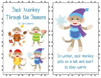 "Emergent Easy Reader: ""Sock Monkey Through the Seasons"""