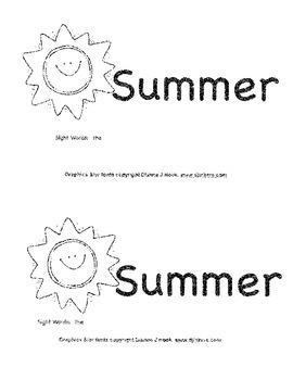 Emergent Reader:  Summer