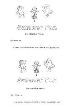 Emergent Reader:  Summer Fun