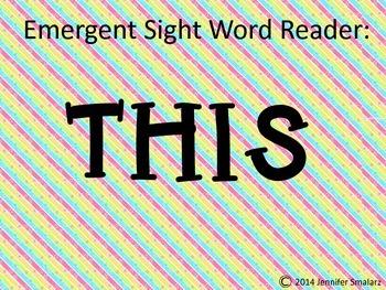 Emergent Reader: THIS