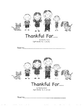 Emergent Reader: Thankful For...