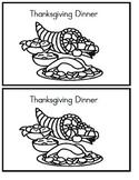 Emergent Reader - Thanksgiving Dinner - Sight words: We, Like
