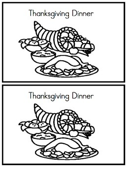 Emergent Reader - Thanksgiving Dinner - Sight words: We, Like