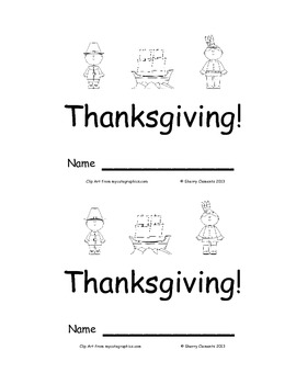 Emergent Reader: Thanksgiving: Sight Words (here, is, the)
