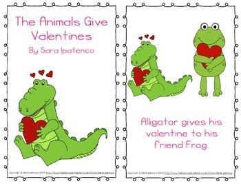 """Emergent Easy Reader: """"The Animals Give Valentines"""""""
