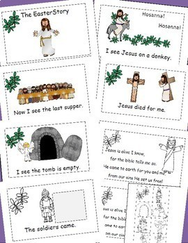 Easter Emergent Reader Cut and Paste Activities Free, Religious