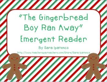 "Emergent Easy Reader Book: ""The Gingerbread Boy Ran Away"""