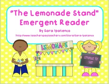 "Emergent Easy Reader: ""The Lemonade Stand"""