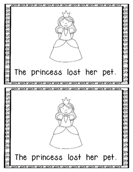 Emergent Reader:  The Princess Lost Her Pet