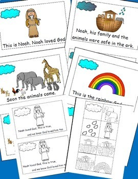 Noah's Ark Emergent Reader and Cut and Paste Activities Reader Free