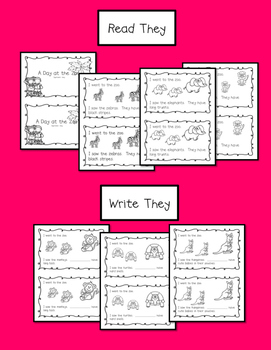 Zoo Emergent Reader {Sight Word:  They}