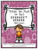 Emergent Reader:  Things I Push or Pull (DRA Level 1)