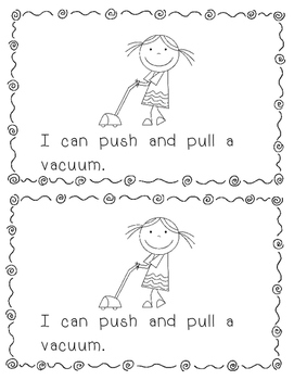Emergent Reader:  Things I Push or Pull (DRA Level 2/3)