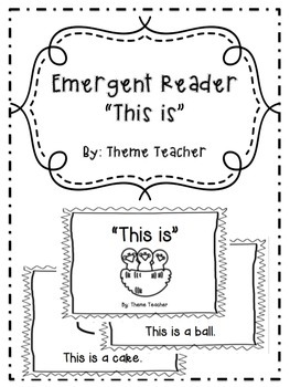 Emergent Reader This Is Book