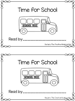 Emergent Reader: Time for School