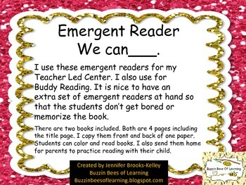 """Emergent Reader """"We can ___."""""""