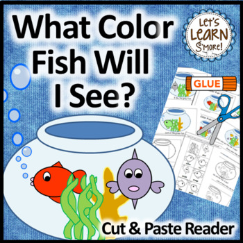 Fish Emergent Reader, Cut and Paste Colors Activities Reader