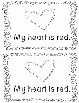 Emergent Reader- What Color Is Your Heart?