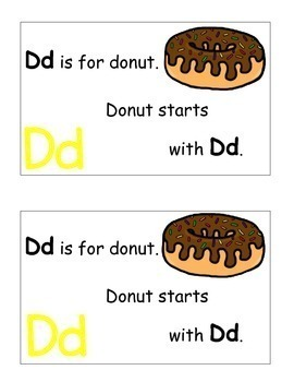 Letter D Alphabet Emergent Reader and Cut and Paste Alphabet Activities Reader