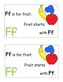 Letter F Alphabet Emergent Reader and Cut and Paste Alphabet Activities Reader