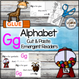 Letter G Alphabet Emergent Reader and Cut and Paste Activities Reader
