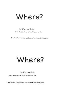 Emergent Reader:  Where?