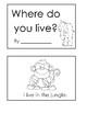 Emergent Reader - Where do you live?