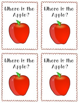 Emergent Reader - Where is the Apple?