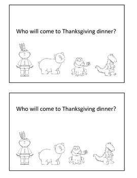 Thanksgiving Activities, Emergent Reader, Fall Activities