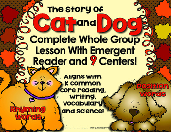 Emergent Reader & 9 Centers - Position Words, Writing, and Rhyming