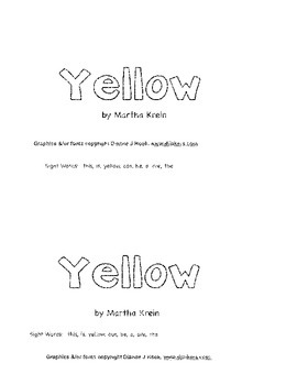 Emergent Reader: Yellow