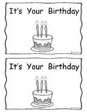 Emergent Reader Your Birthday Book