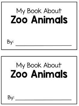 Emergent Reader - Zoo Animals