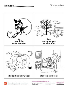Emergent Reading Fall Activities in Spanish