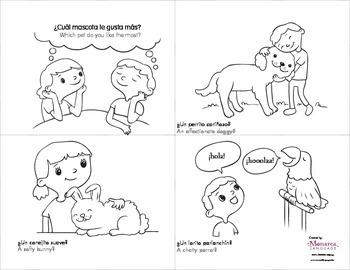 Emergent Reader activities in Spanish: Las mascotas