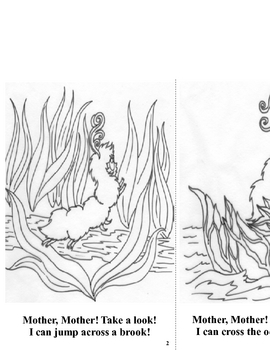 Emergent Reader and Coloring Book - Caterina Caterpillar