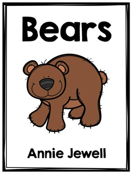 Emergent Reader for Beginning Readers - Color Words and Sight Words – Bears