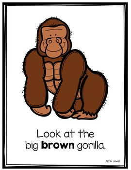 Emergent Reader for Beginning Readers - Color Words and Sight Words – Gorillas